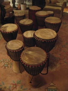 Djembe drums from Africa