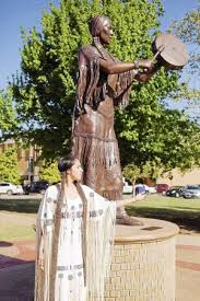 Chickasaw storyteller is honored with a statue to commemorate her contribution. Photo Credit: tulsaworld.com